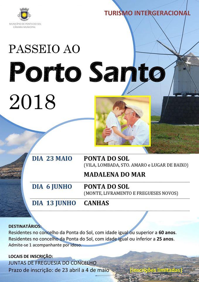 Turismo Intergeracional | Passeio ao Porto Santo 2018