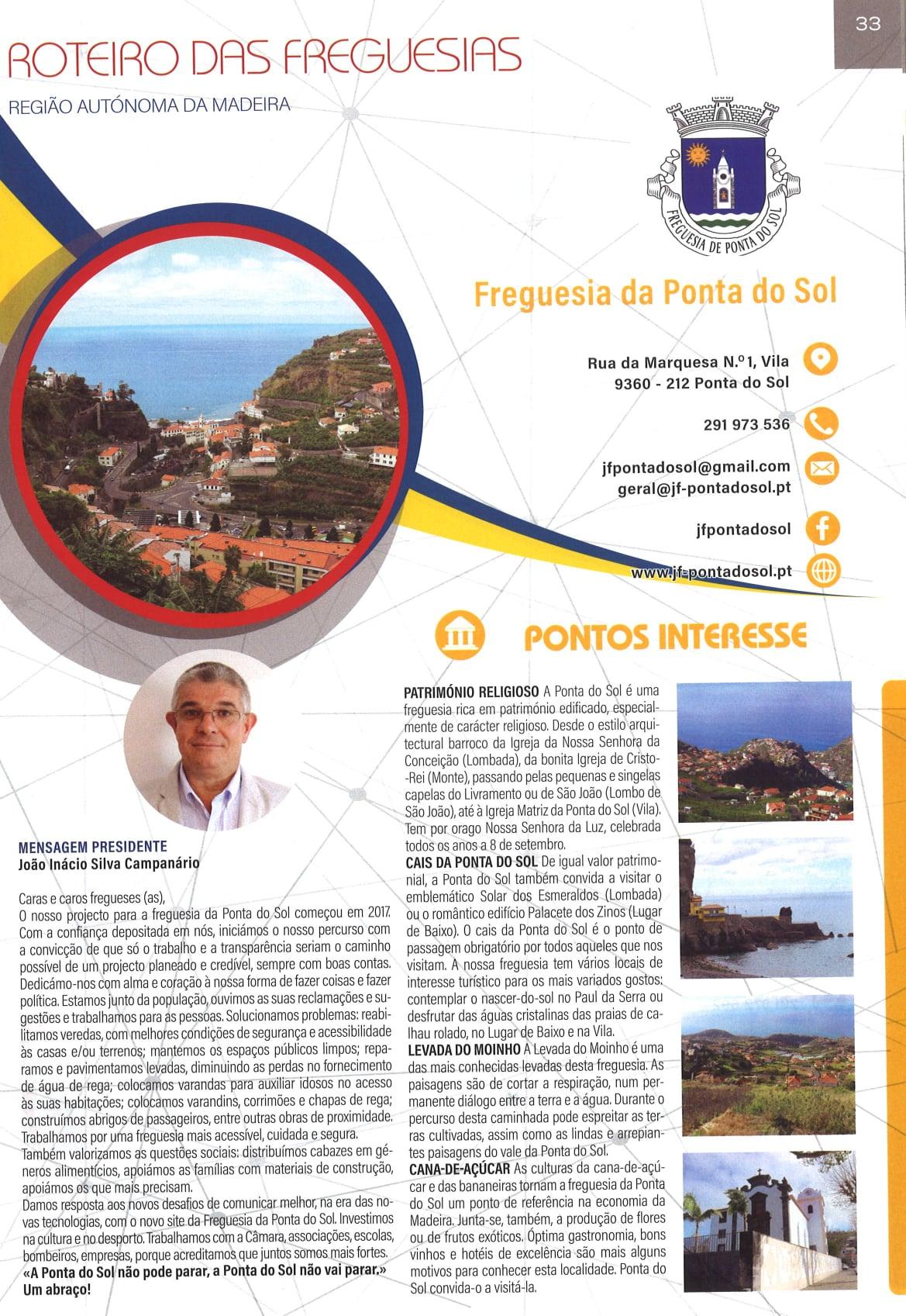 Roteiro da freguesia da Ponta do Sol