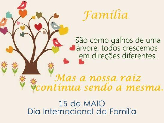 Feliz Dia Internacional da Família para todos os nossos fregueses