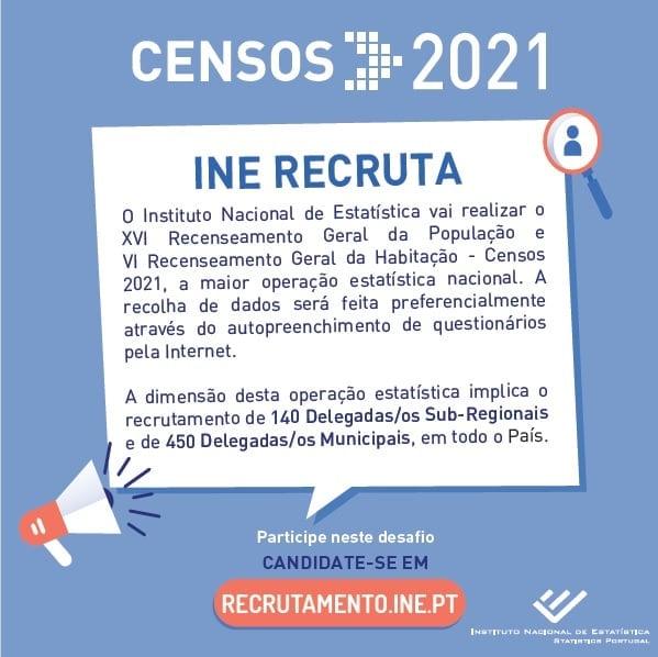 Censos 2020 - INE recruta