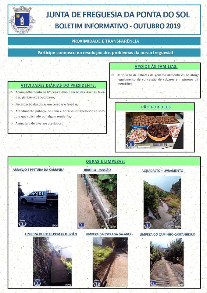 Boletim informativo | Outubro 2019 Freguesia da Ponta do Sol