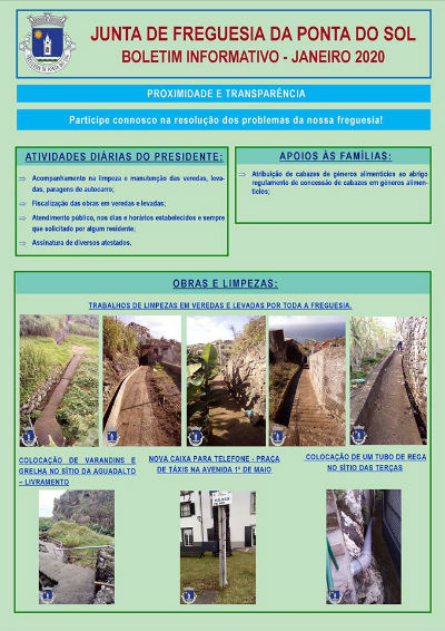Boletim informativo | Janeiro 2020 Freguesia da Ponta do Sol