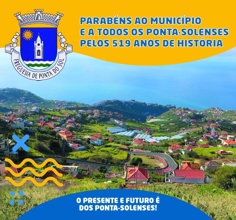 Parabéns Ponta do Sol pelos 519 anos de história