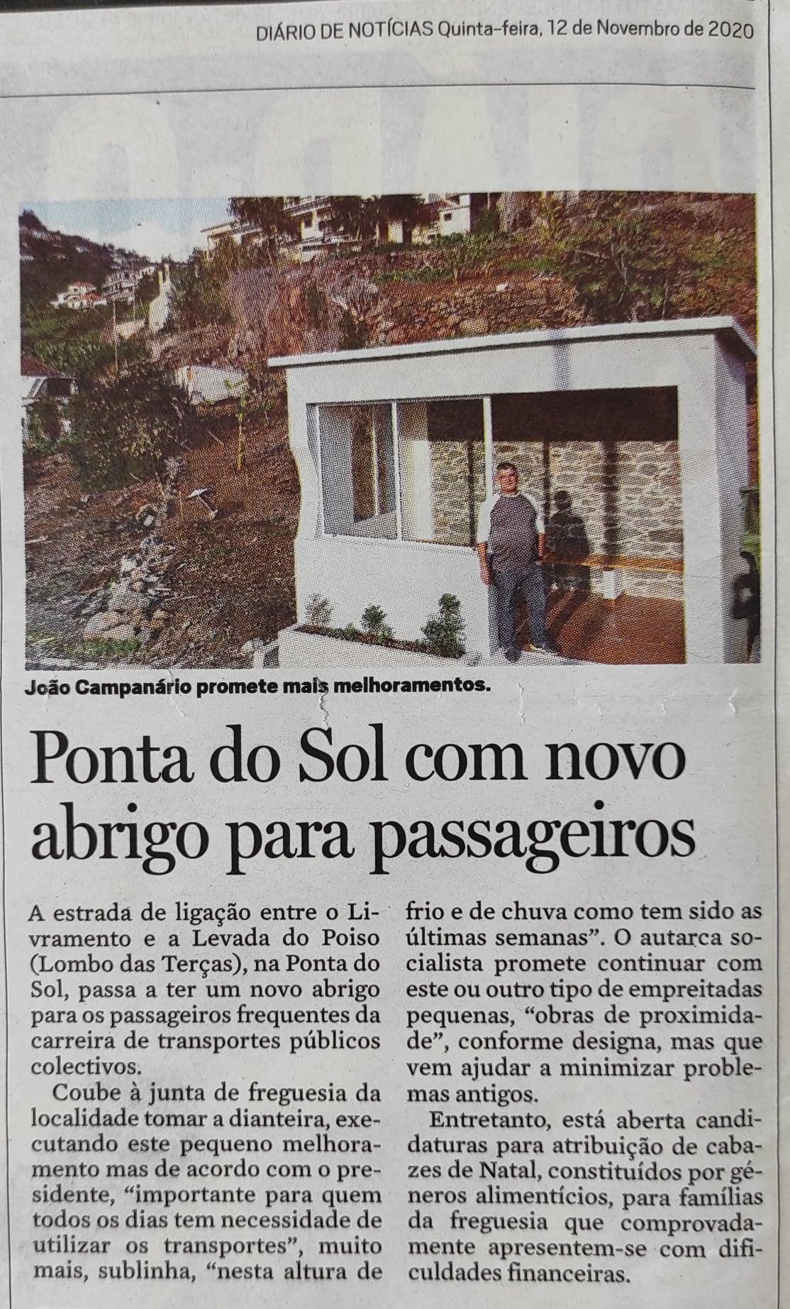 Ponta do Sol com novo abrigo de passageiros