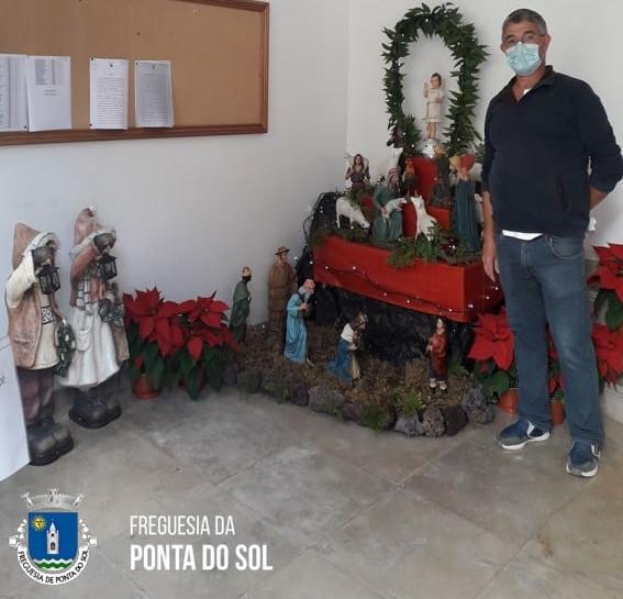 Presépio de Natal feito para os Ponta-solenses!