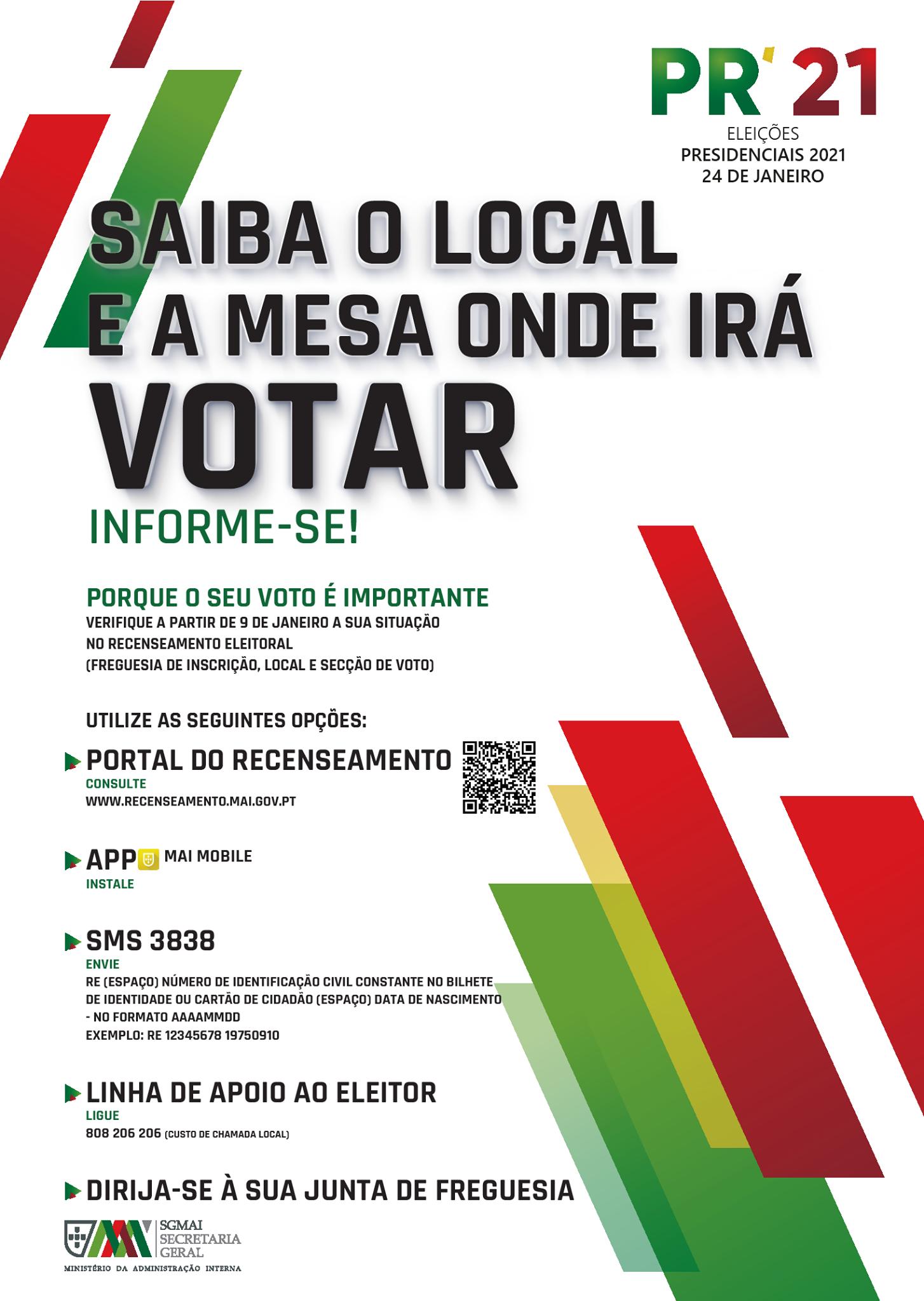 ELEIÇÕES PRESIDENCIAIS 2021 | informações