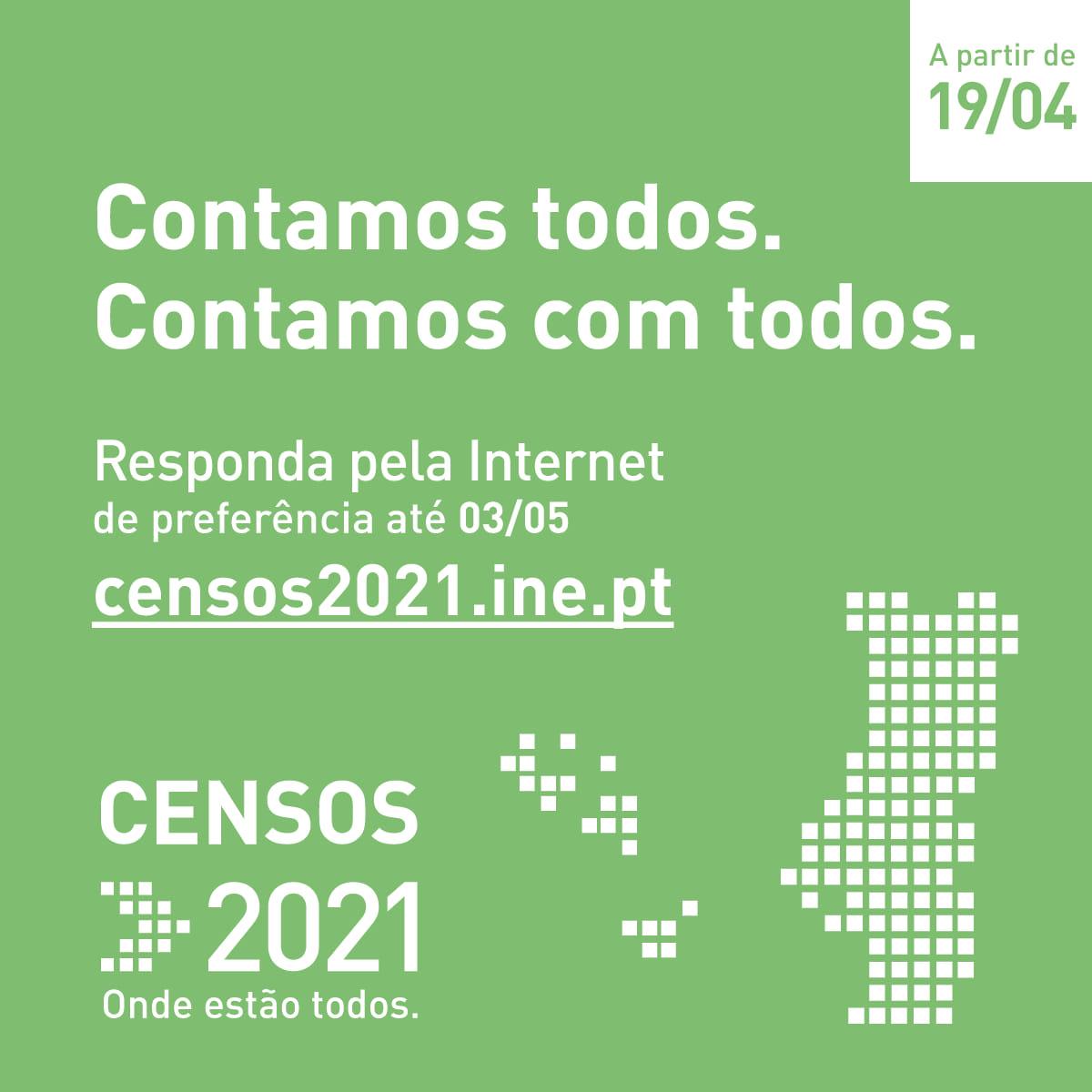Censos 2021 pela Internet