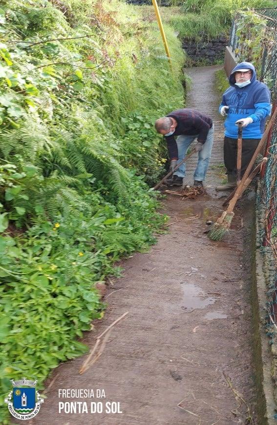 Limpezas e desobstrução de veredas e levadas na freguesia da Ponta do Sol