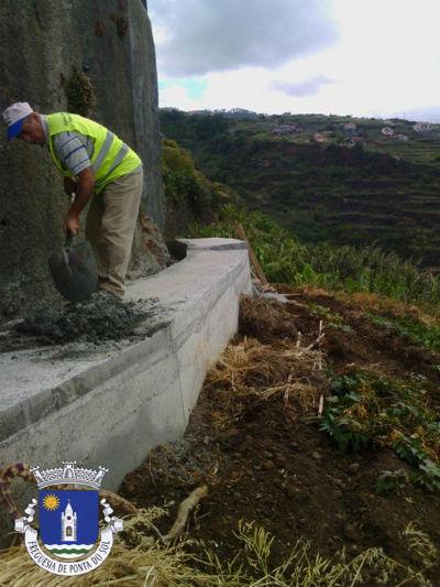Limpeza e pavimentação da vereda e levada | Pico do Anjo
