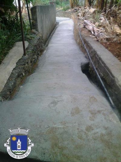 Pavimentação da vereda | Sítio dos Lemes