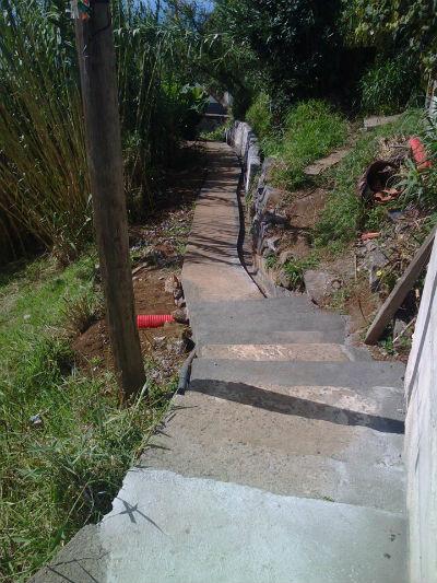 Pavimentação de vereda e levada | Sítio da Borboleta - Lombada