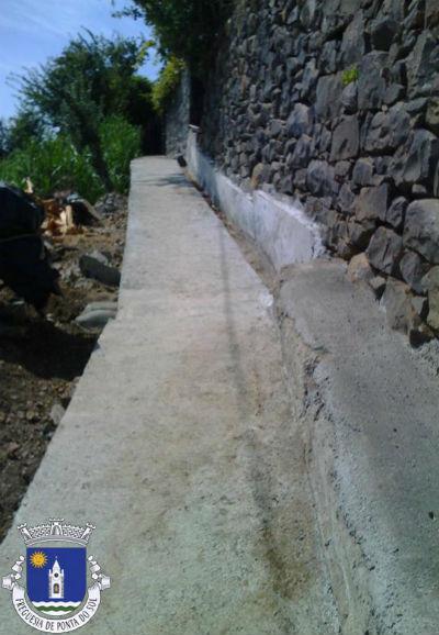 Pavimentação de vereda e levada | Sítio da Borboleta e o Sítio do Tornadouro