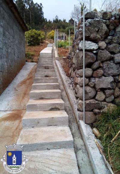 Pavimentação de vereda e construção de levada | Sítio do Vale, Pomar D. João