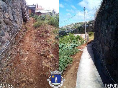 Recuperação e pavimentação de vereda e levada | Sítio do Serrado – Lombo de São João