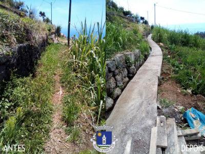 Recuperação e pavimentação de vereda e levada | Sítio do Jangão - Lombada