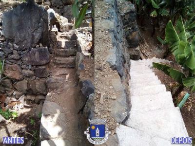 Recuperação e pavimentação de vereda, levada e escadas | Lugar de Baixo