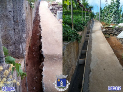 Construção de levada | Pomar D. João