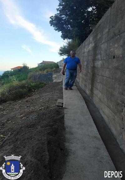 Recuperação e pavimentação total da vereda e levada no sítio do Topo Salão - Adegas
