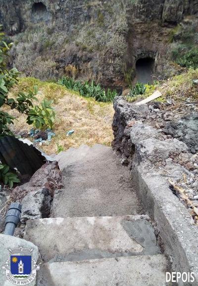 Recuperação e pavimentação da vereda e levada | Sítio da Aguadalto – Livramento