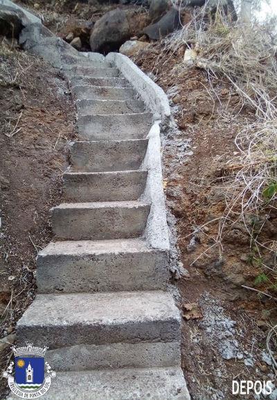 Recuperação e pavimentação de partes da vereda e levada | Sítio dos Poios - Livramento