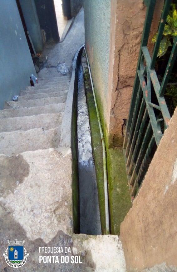 Reparação da levada na vereda da Padaria - Lugar de Baixo