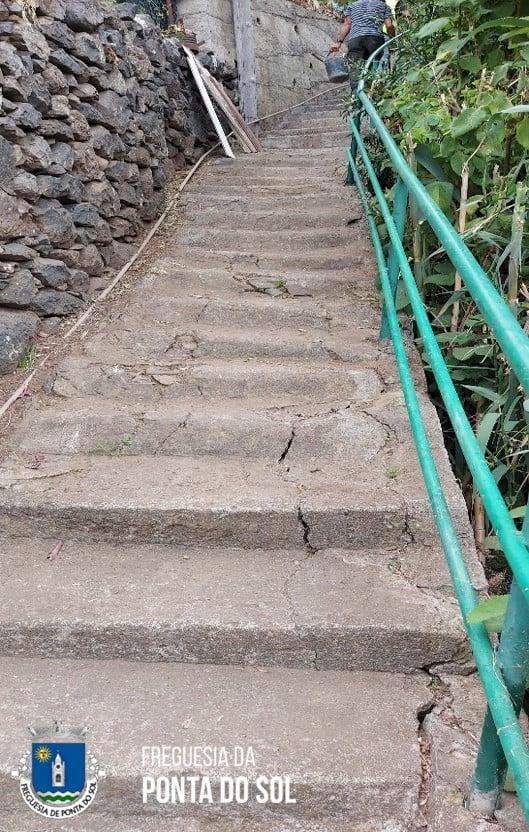 Sítio do Luzirão | reparação e pavimentação de parte dos degraus de vereda