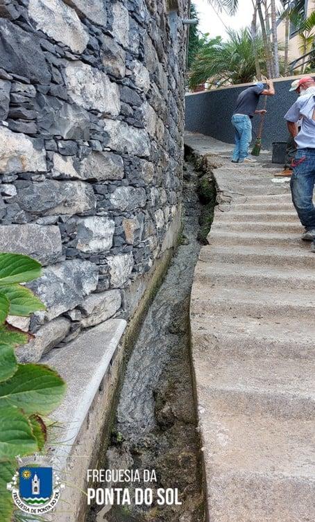 Reparação e limpeza de levada na Lombada (zona do Cascalho)